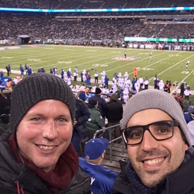 Lukas (left) and I in the MetLife Stadium
