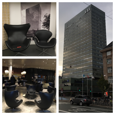 Museum (top left) and reality: Radisson Blu Royal Hotel, Copenhagen