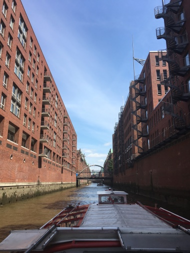 Crusing through Speicherstadt, a historical warehouse complex and UNESCO world heritage site