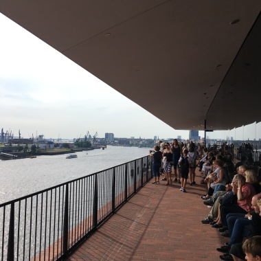 View from the Plaza observation platform at the Elbphilharmonie concert hall