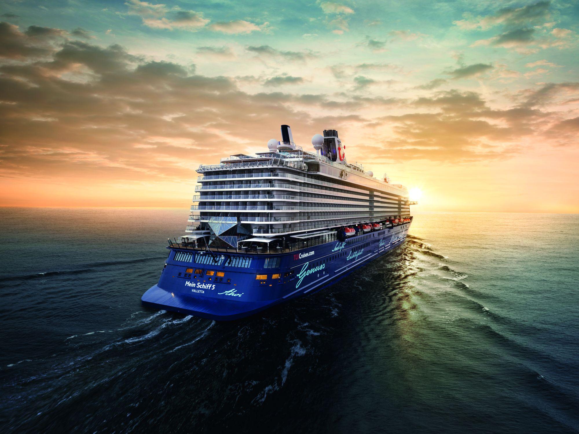 Heckansicht der Mein Schiff 5 (Bild: TUI Cruises GmbH)