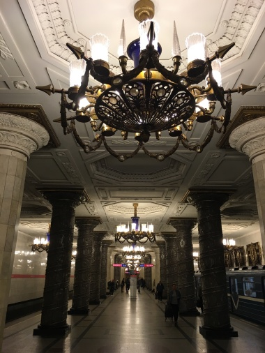 St Petersburg has some of the most magnificent metro stations