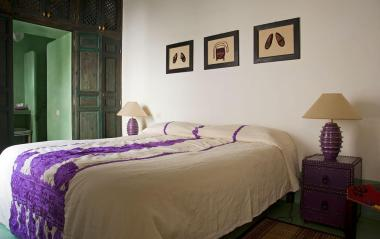 "The room ""Menthe"" (mint) in the Riad Le J"