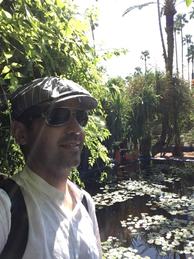Your travelblogger in the Jardin Majorelle
