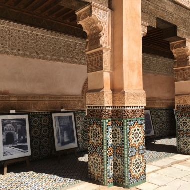 Courtyard of the Ali Ben Youssef Medersa