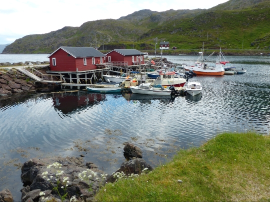 The fishing village Kamøyvær near the North Cape