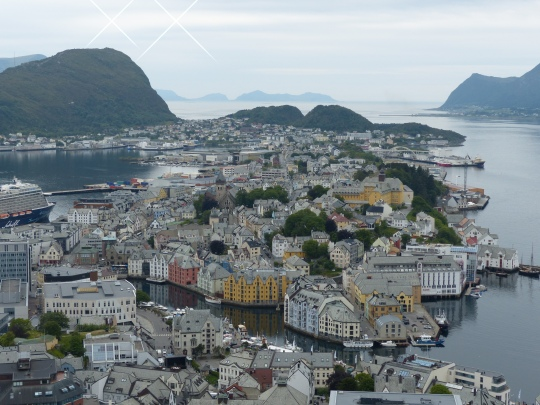 View on the Art Nouveau town Ålesund