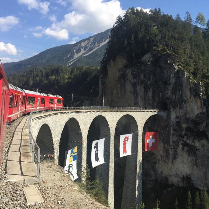 Landwasser Viaduct of the Albula Railway