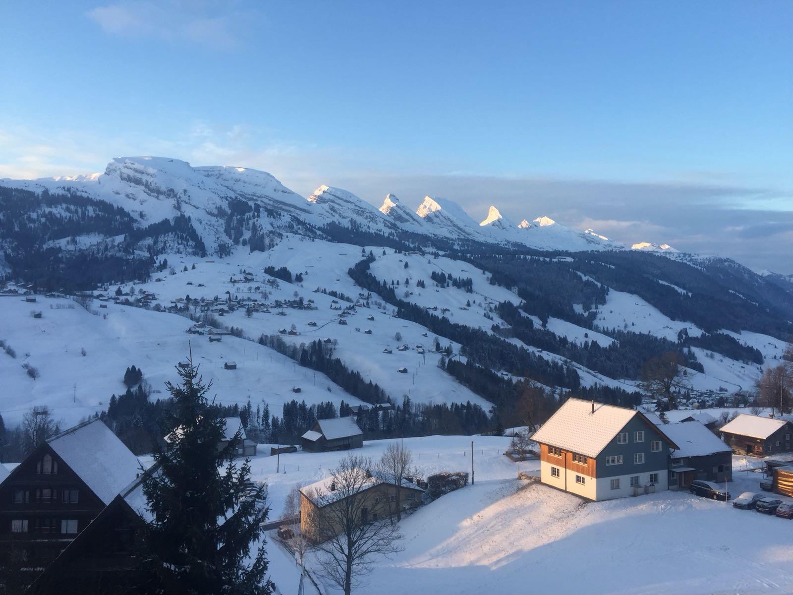 Churfirsten mountain range in Eastern Switzerland