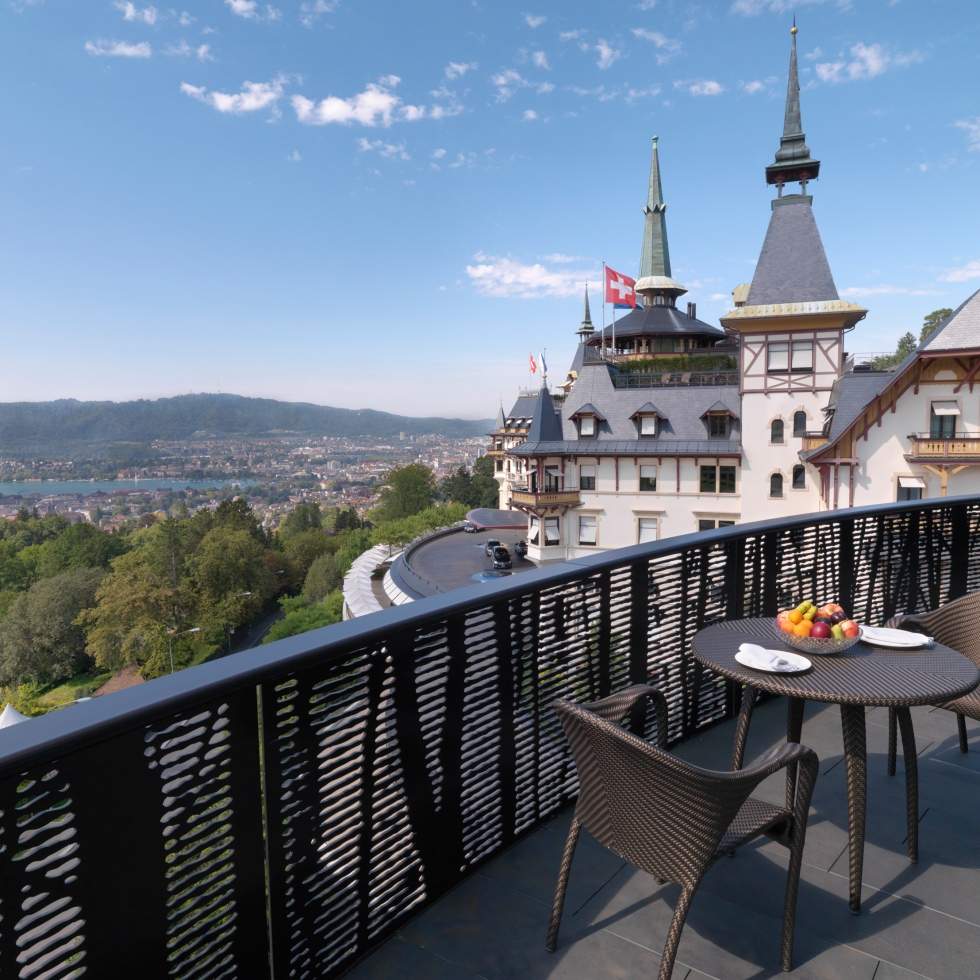 View from the Dolder Grand hotel in Zurich