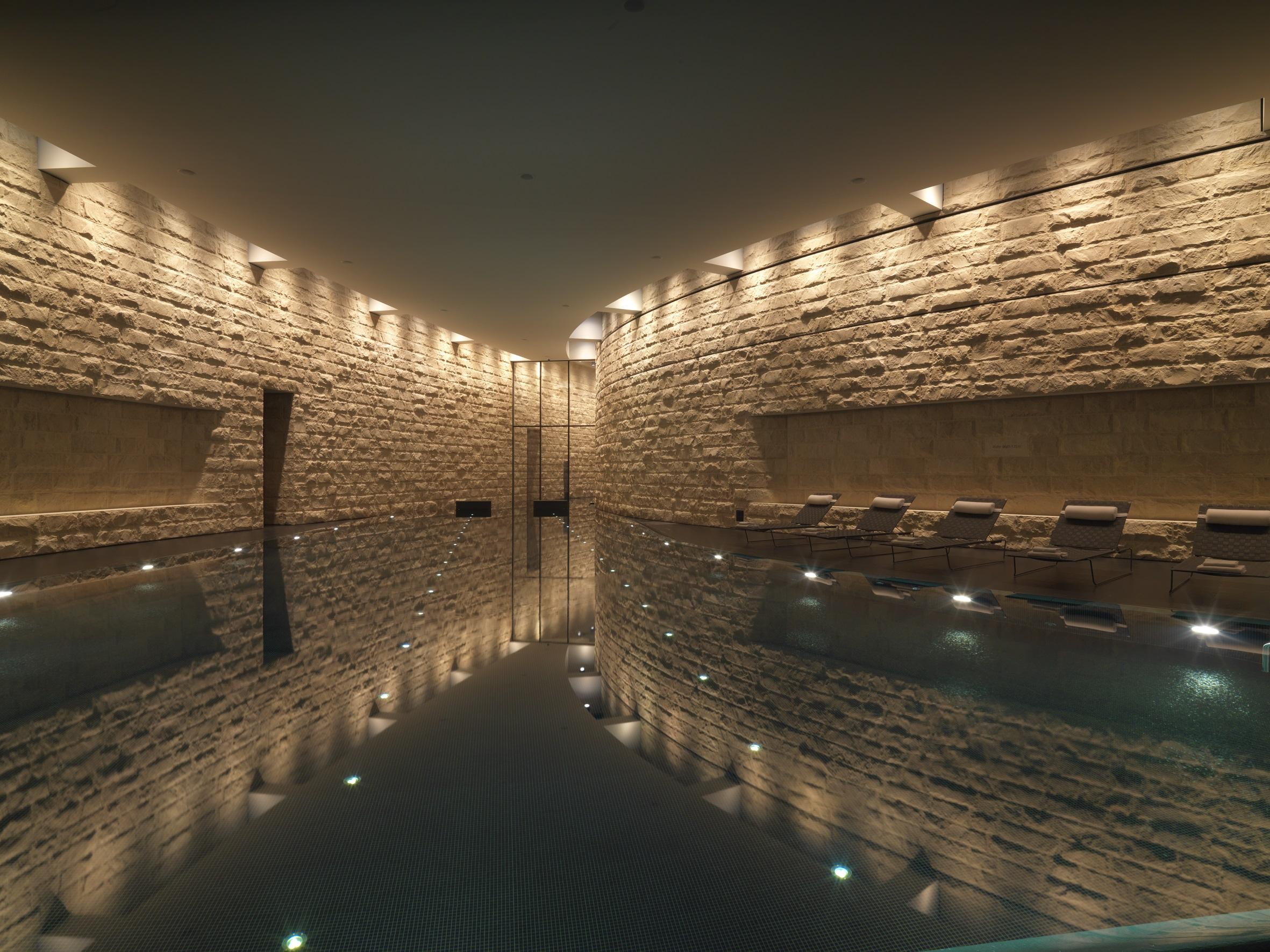 Indoor pool in the Dolder Grand hotel