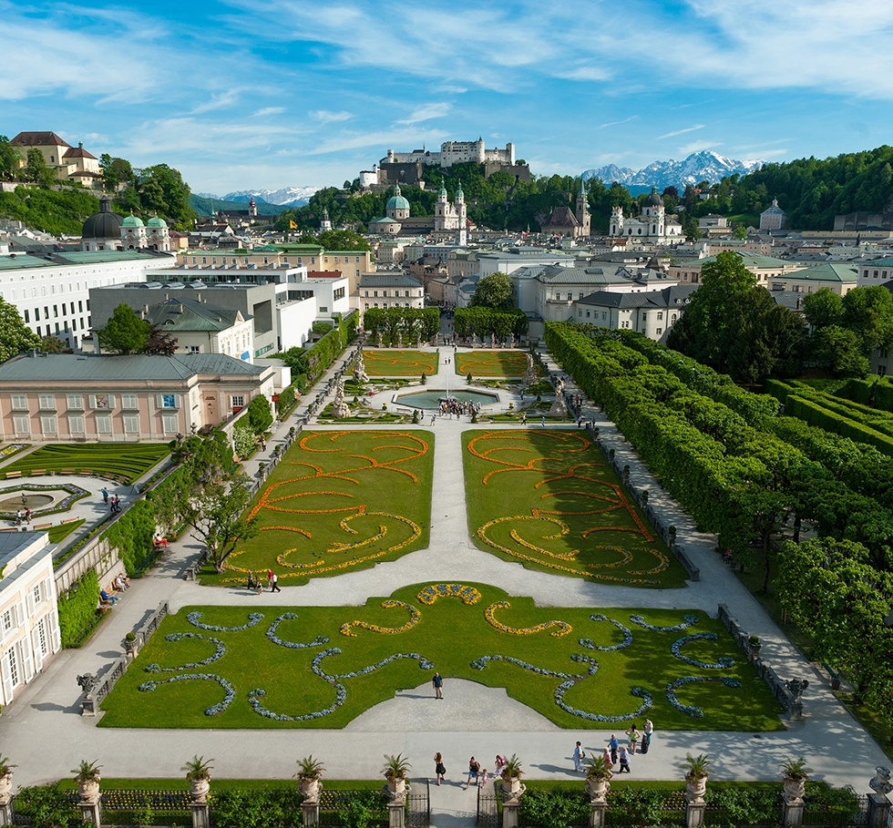 Mirabell Castle & Gardens, the Cathedral in the UNESCO-listed Old Town of Salzburg and the Hohensalzburg Fortress